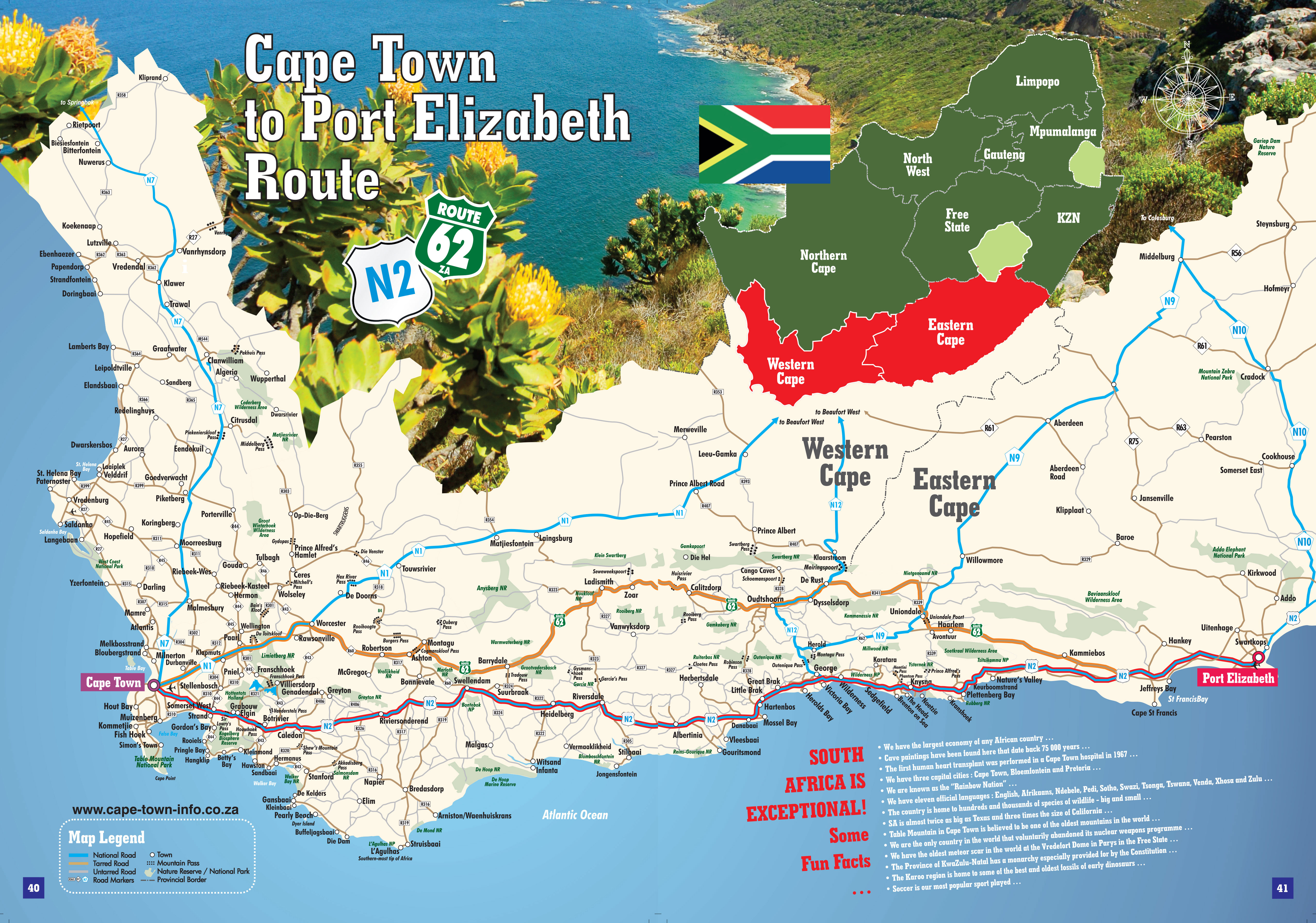 Cape town to port elizabeth route magazine sa info magazines - How far is port elizabeth from cape town ...